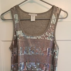 Never worn sz L Gray & silver sequenced tank